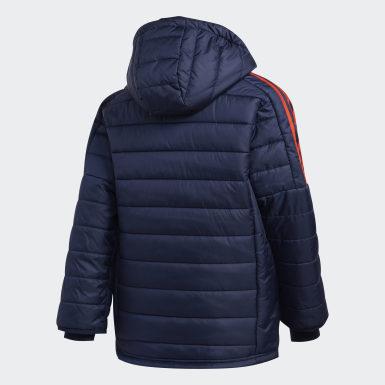 Jungen Training Puffer Jacke Blau