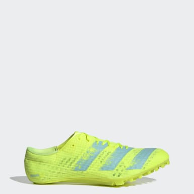 Track & Field Yellow Adizero Finesse Spikes