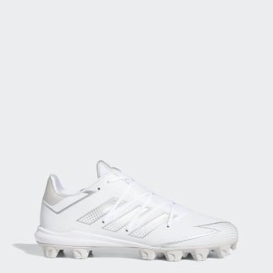 Men's Baseball White Afterburner 7 MD Cleats