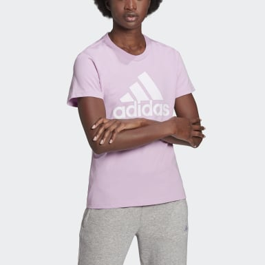 Women Sport Inspired Purple LOUNGEWEAR Essentials Logo Tee