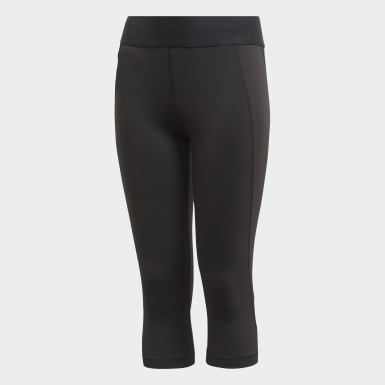 Kinder Yoga Alphaskin 3/4-Tight Schwarz