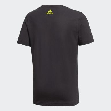 T-shirt Graphic noir Adolescents Entraînement