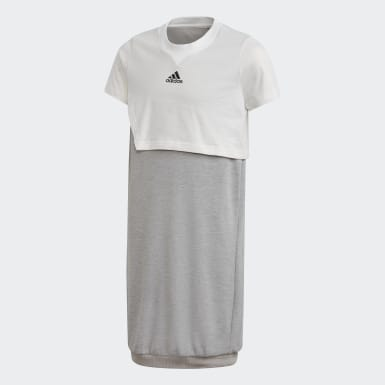 Vestido ID 3-Stripes Blanco Niño Training