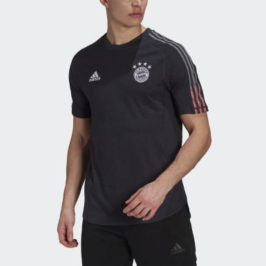 Men Football Grey FC Bayern Travel Tee