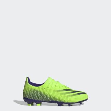 Kinderen Voetbal groen X Ghosted.3 Firm Ground Voetbalschoenen