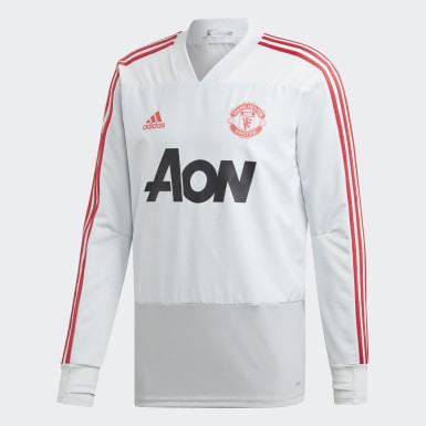 Herr Fotboll Grå Manchester United Training Top