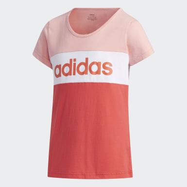 розовый Футболка Linear Logo Colorblock