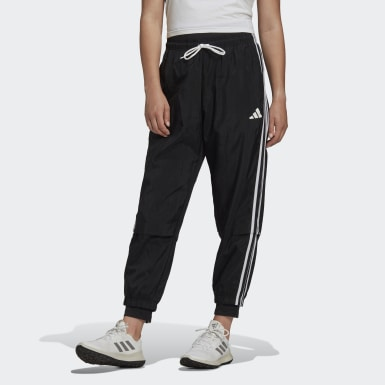 Women Athletics Black Comfortable Woven Track Suit Pants