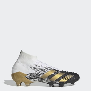 Voetbal wit Predator Mutator 20.1 Firm Ground Voetbalschoenen