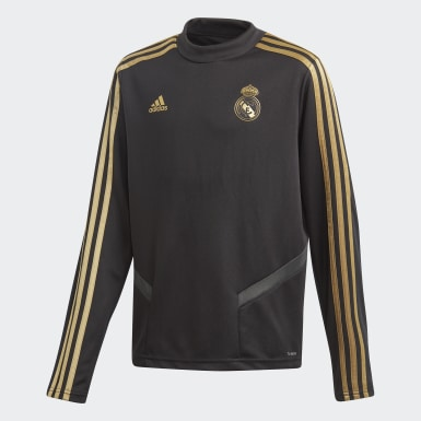 Sudadera entrenamiento Real Madrid Negro Niño Fútbol