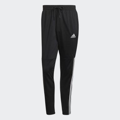 Pants Essentials 3 Franjas Tricot Snap Negro Hombre Diseño Deportivo