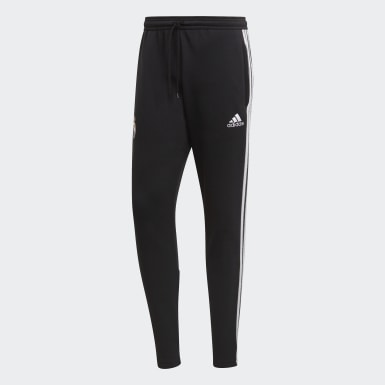 Men Football Black Real Madrid Icons Tracksuit Bottoms