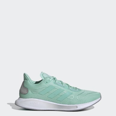 Women Running Green Galaxar Run Shoes