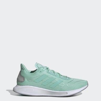 Women Running Green Galaxar Run Shoes