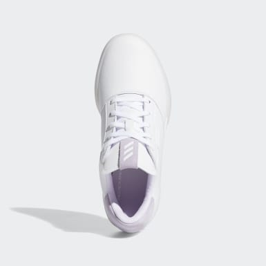 Kids Golf White Adicross Retro Shoes
