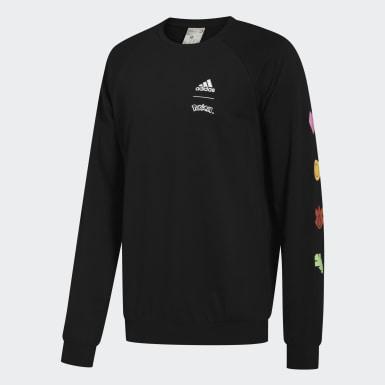 Men Sport Inspired Black Pokémon Crewneck Sweatshirt