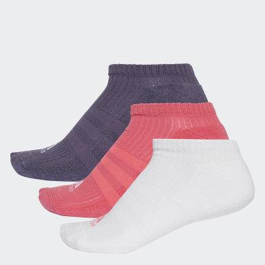 Kvinder Træning Flerfarvet 3-Stripes No-Show sokker, 3 par