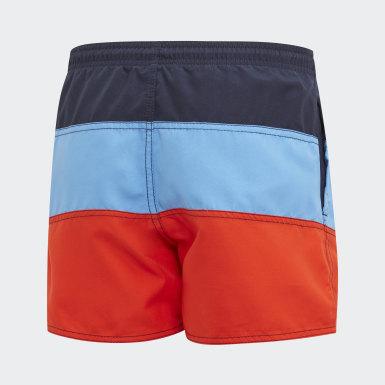 синий Пляжные шорты Colorblock