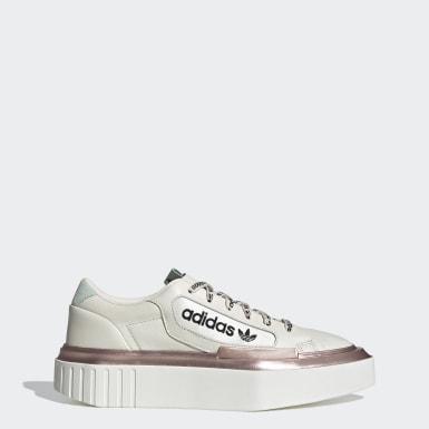 ผู้หญิง Originals สีเบจ รองเท้า adidas Hypersleek