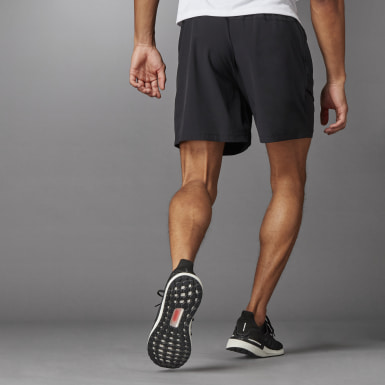 Men Running Black Studio Tech Shorts