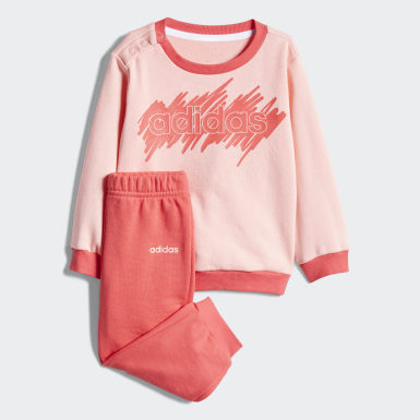Kids Lifestyle Pink Linear French Terry Jogger