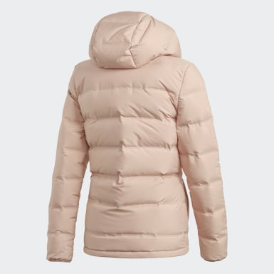 Women Outdoor Beige Helionic Down Jacket