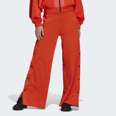 Women Training Orange Karlie Kloss Flared Joggers