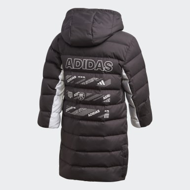 Kinder Training Long Daunenjacke Schwarz