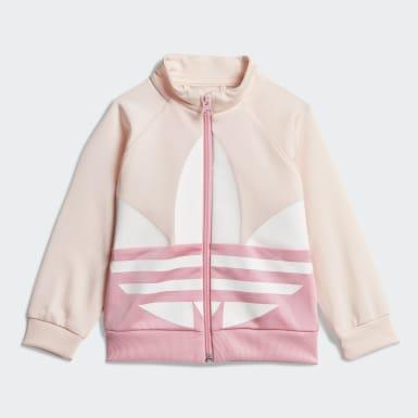 Girls Originals Pink Large Trefoil træningsdragt