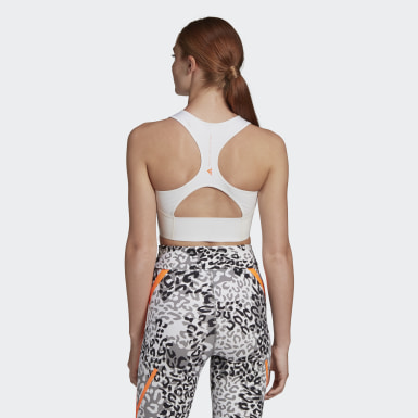 Top adidas by Stella McCartney TruePurpose Crop Bianco Donna adidas by Stella McCartney