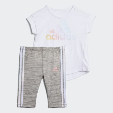 Infant & Toddler Training White Tee and Capri Tights Set
