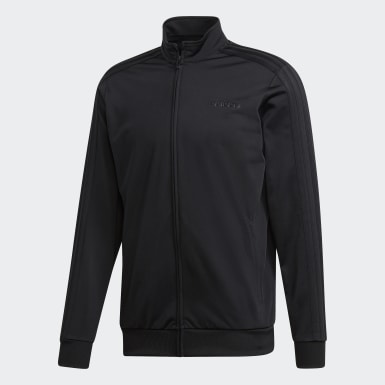 Men's Essentials Black Essentials 3-Stripes Tricot Track Top