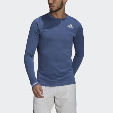 Men's Tennis Blue Tennis Freelift Long Sleeve Tee