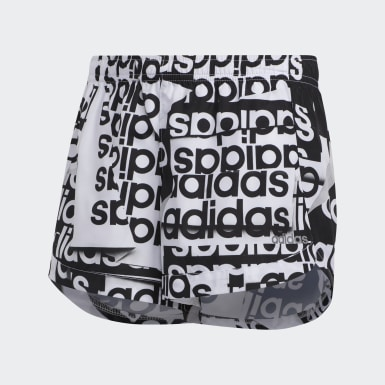 Youth Training White Printed Shorts