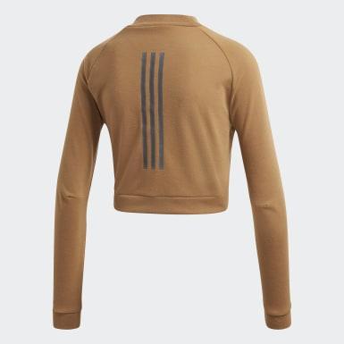 ID Camiseta Cropped Marrom Mulher Athletics