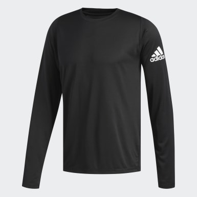 Men Running Black FreeLift Sport Solid Badge of Sport Long-Sleeve Top