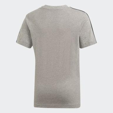 Essentials 3-Stripes T-skjorte Grå