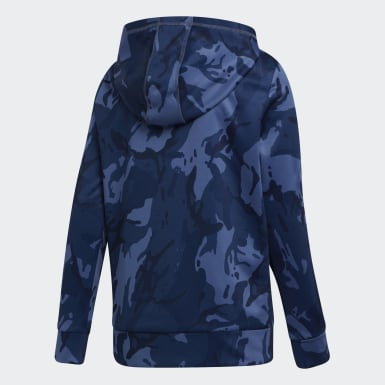 Youth Training Blue Core Camo Hoodie