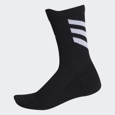 Tennis Black Techfit Crew Socks