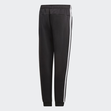 Boys Athletics Black Essentials 3-Stripes Pants