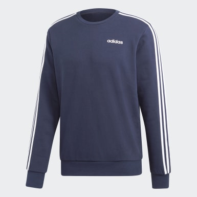 Men Training Blue Essentials 3-Stripes Sweatshirt
