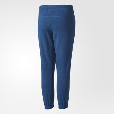 синий Флисовые брюки