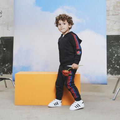 Calças Trefoil 3D Adicolor Azul Criança Originals