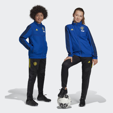Youth 8-16 Years Football Blue Manchester United Presentation Jacket