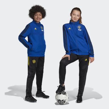 Barn Fotboll Blå Manchester United Presentation Jacket