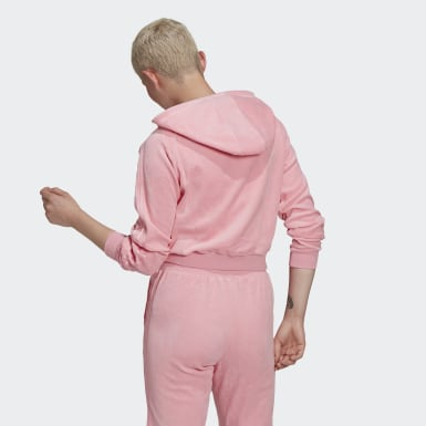 Frauen Originals LOUNGEWEAR Cropped Kapuzenjacke Rosa