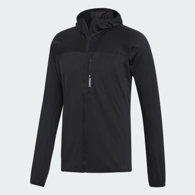 Men TERREX Black TraceRocker Hooded Fleece Jacket