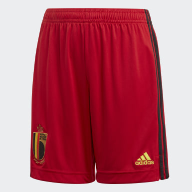 Youth 8-16 Years Football Red Belgium Home Shorts