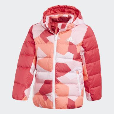 розовый Пуховик Allover Print