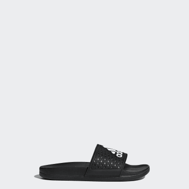 เด็ก เทรนนิง สีดำ รองเท้าแตะ adilette Cloudfoam Plus